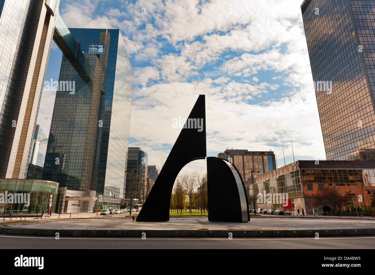 World Trade Center, Northern Quarter, the financial district of Brussels, Boulevard Simon Bolivar, Belgium. - Stock Image