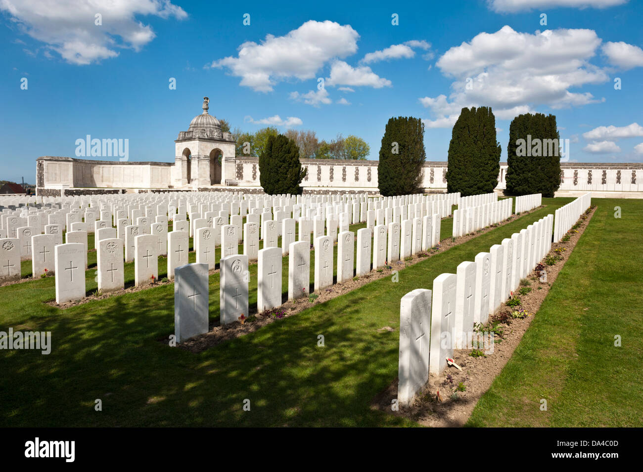Tyne Cot, Commonwealth War Graves Cemetery, Ypres, Belgium. - Stock Image