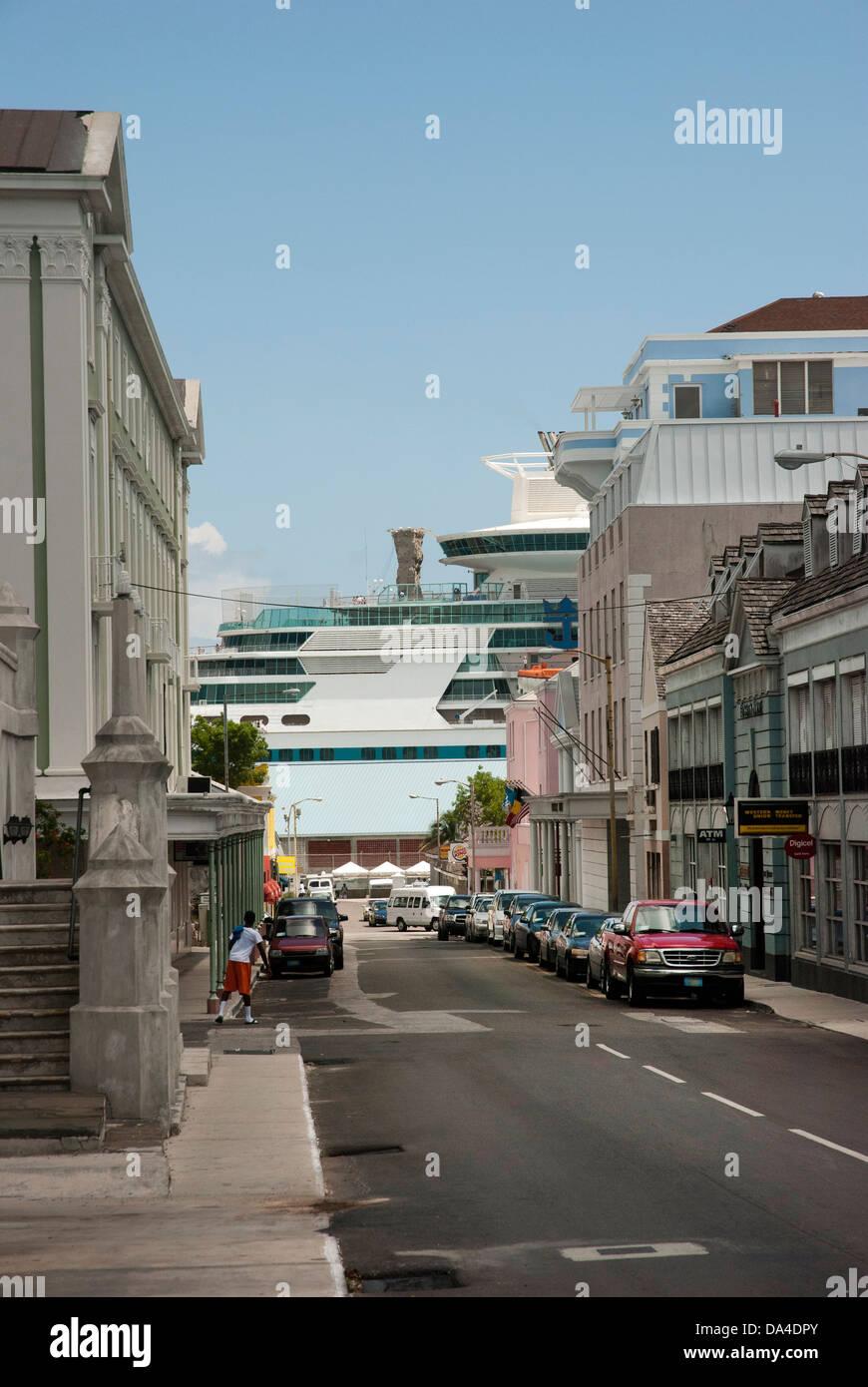 Nassau cruise port area - Stock Image