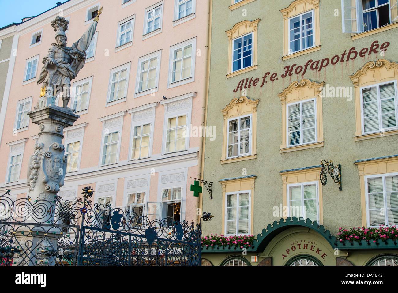 Alter Markt square, Salzburg, Austria - Stock Image