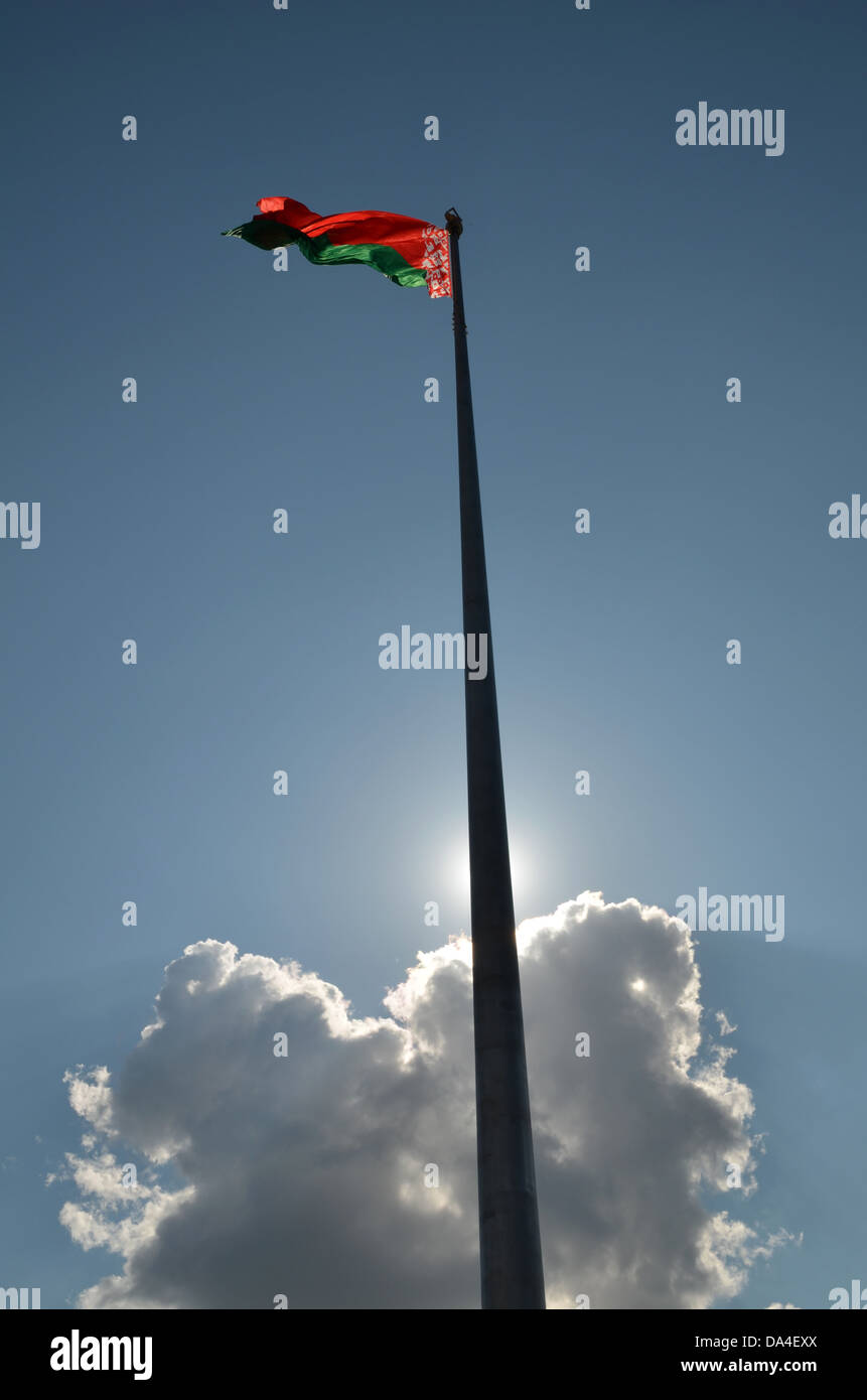 flag of Belarus - Stock Image