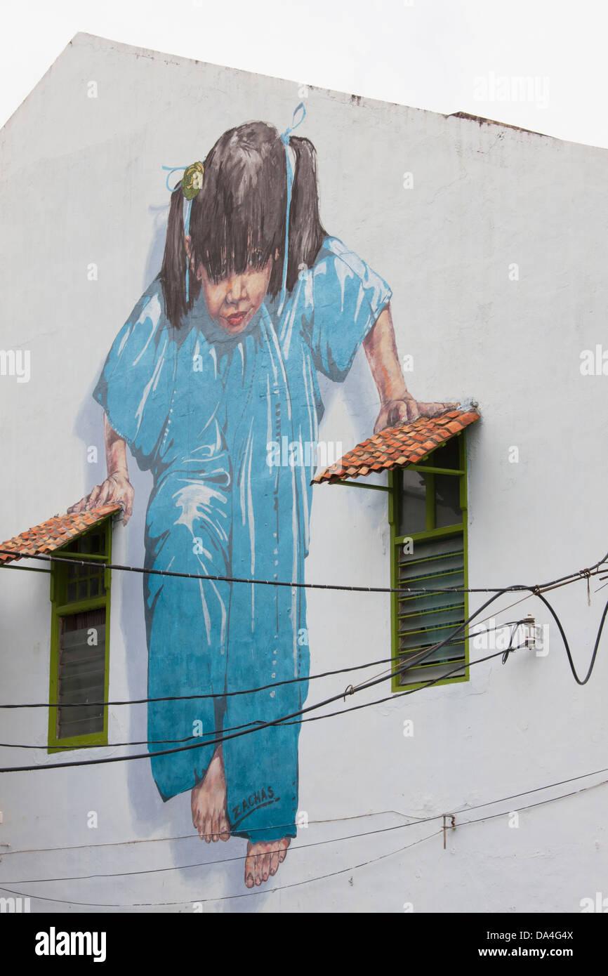 Street art, Georgetown, Penang, Malaysia Stock Photo