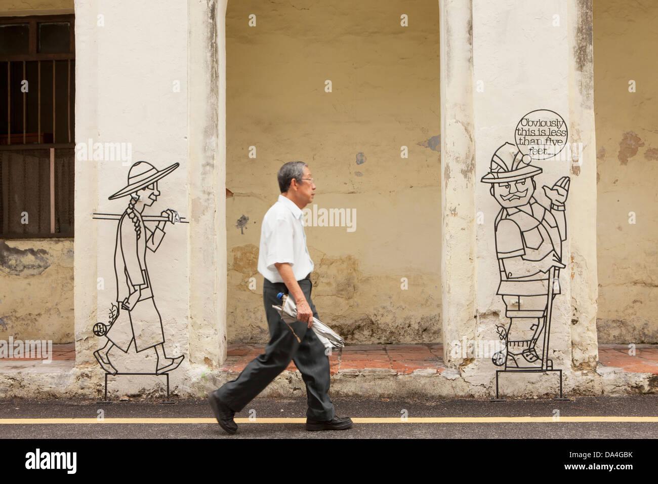 Penang Street Art Stock Photos Penang Street Art Stock Images Alamy
