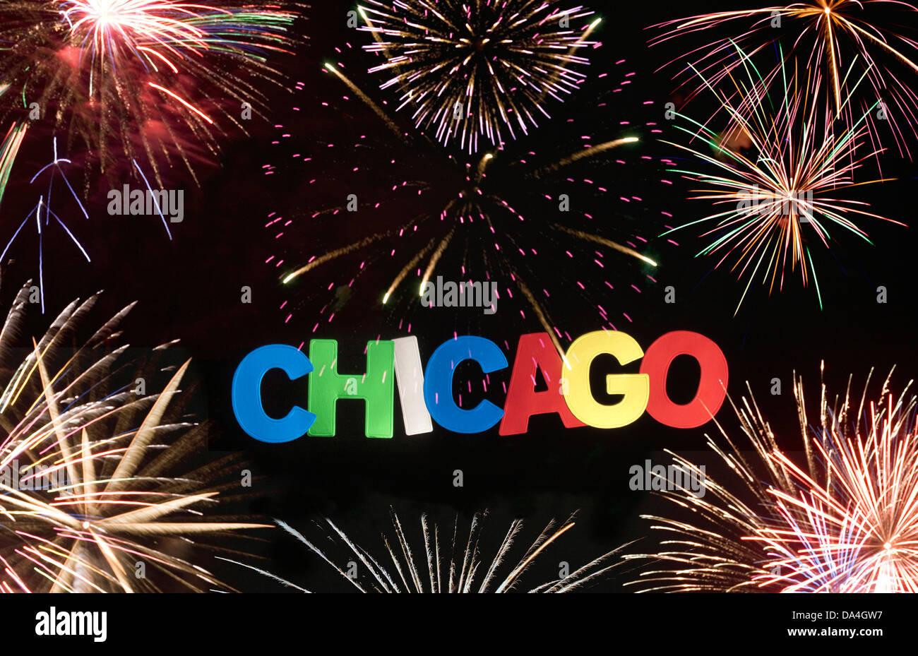 CHICAGO ILLINOIS USA SIGN - Stock Image