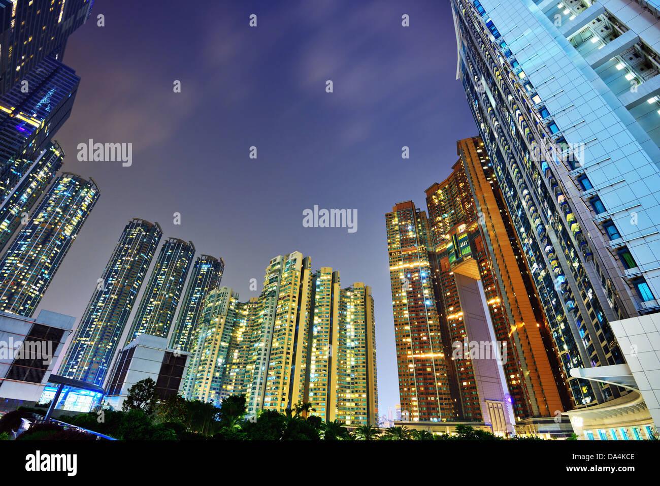 Luxury high rise apartments in Kowloon, Hong Kong SAR, China. - Stock Image