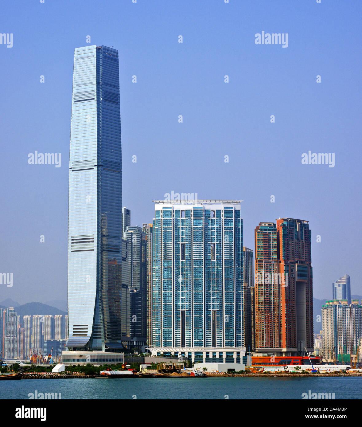 High Rises in Kowloon, Hong Kong SAR, China. - Stock Image