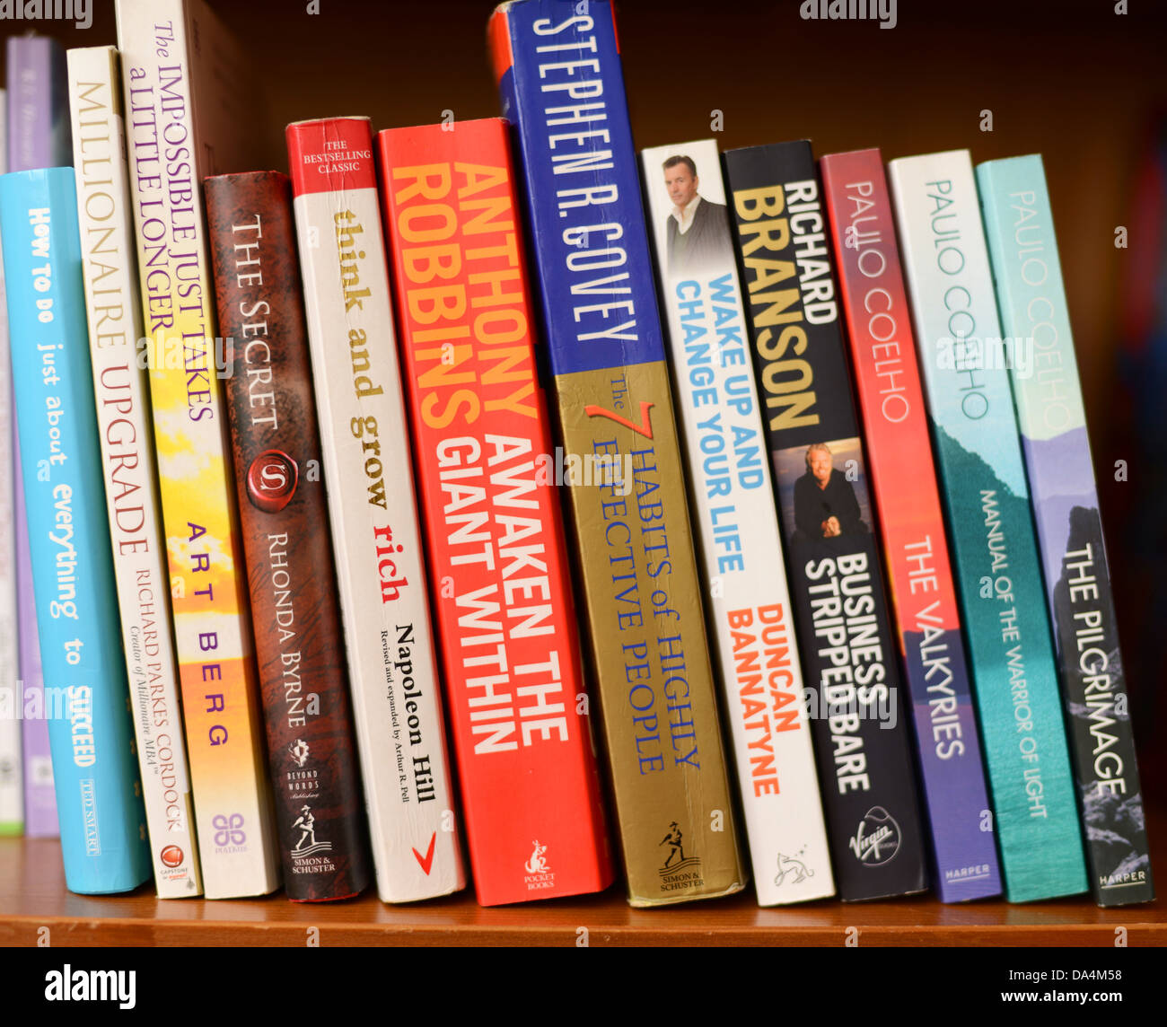 Self Help Books On A Bookshelf Stock Photo 57881300 Alamy