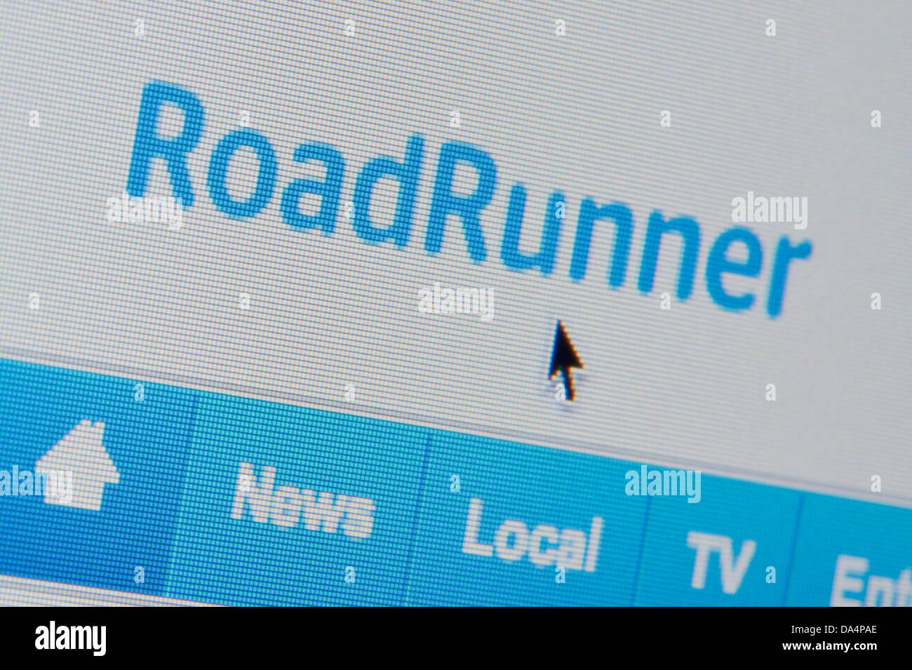 Close up of the RoadRunner logo as seen on its website. (Editorial use only: print, TV, e-book and editorial - Stock Image