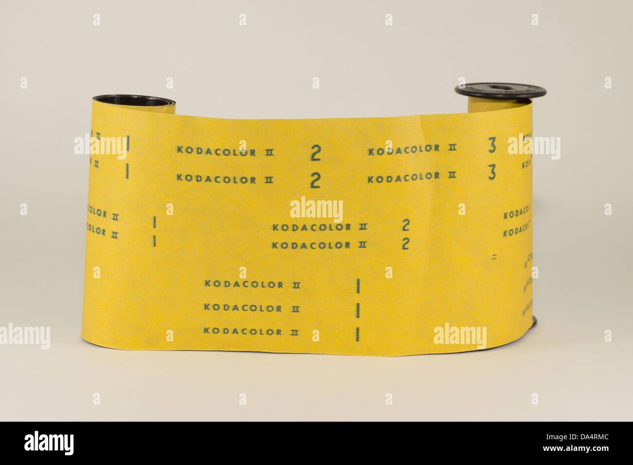 A roll of Kodak Kodacolor II 120 medium format film Stock Photo