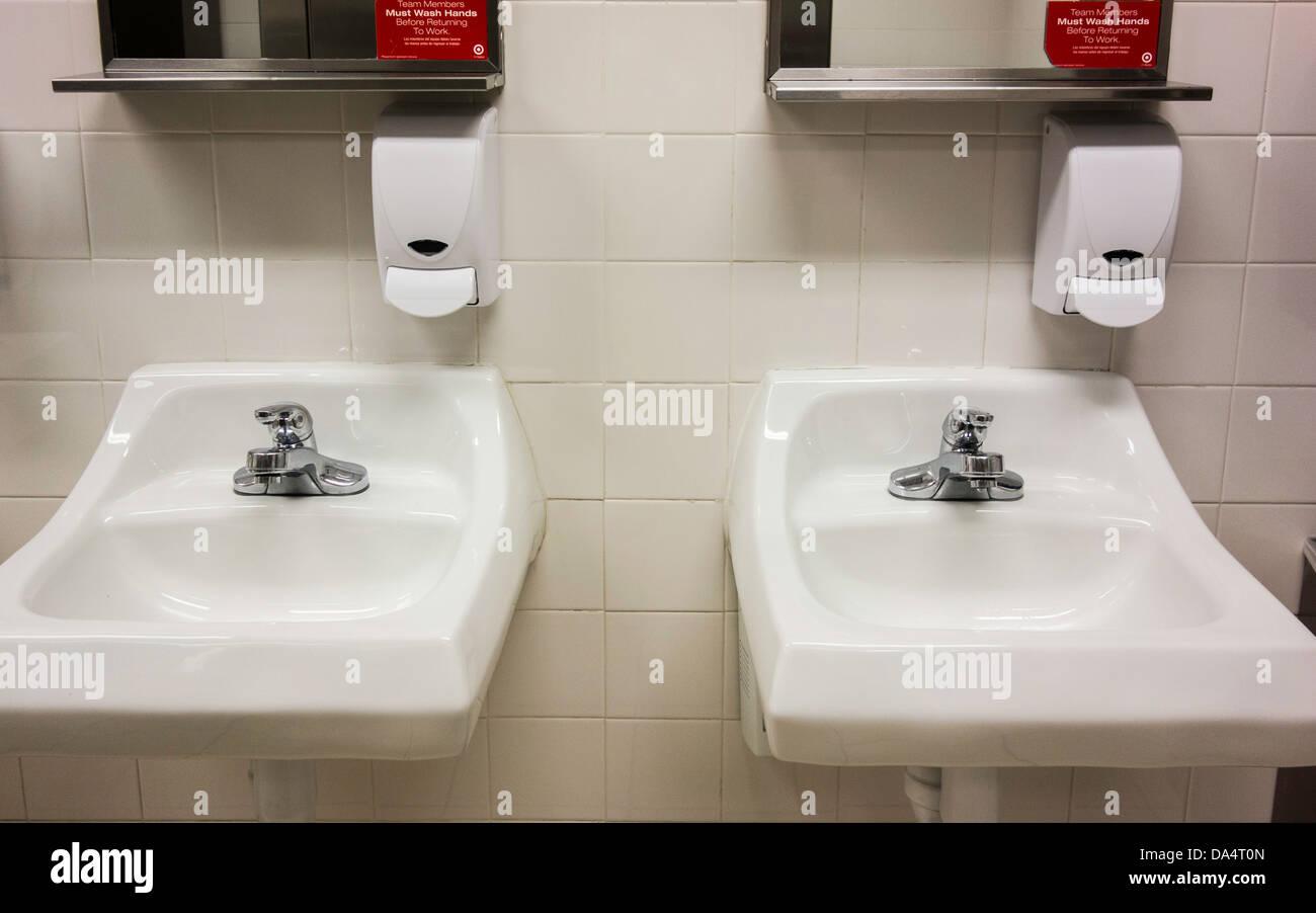Bathroom sinks stock photos bathroom sinks stock images for Public bathroom sink