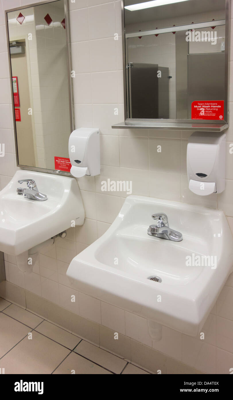 Public Bathroom In A Shopping Malllavatories Soap Dispenser And Mirrors Oklahoma City USA