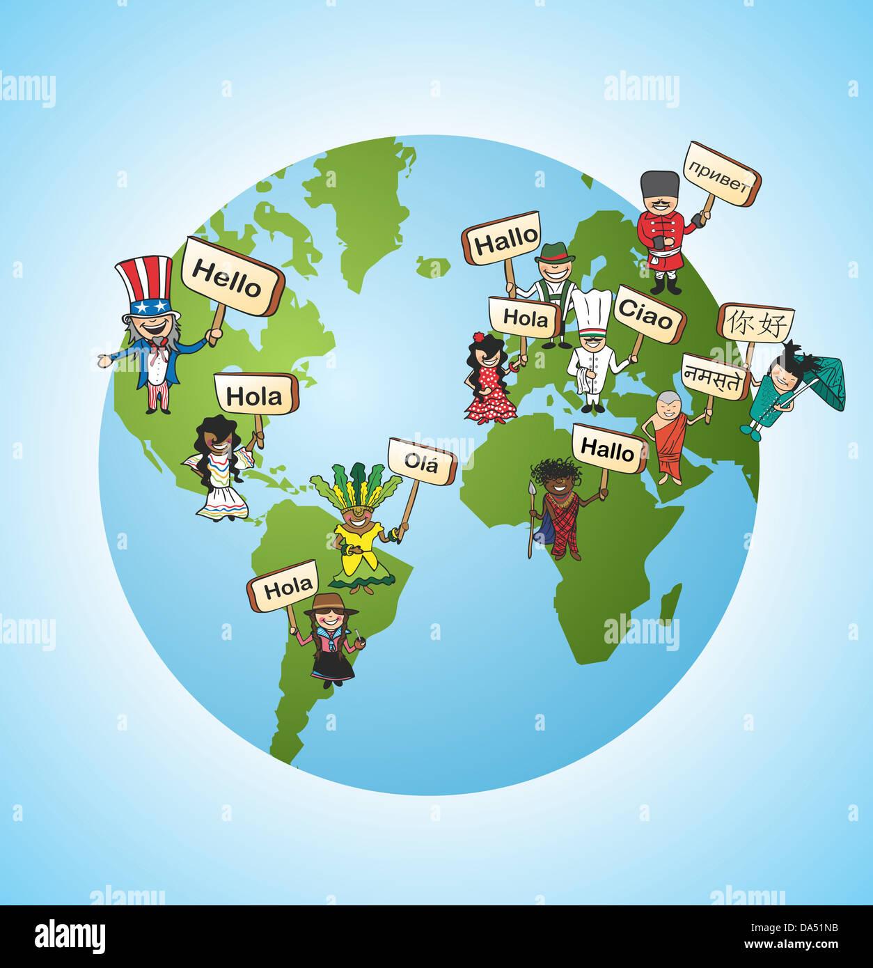 World diversity online language translation concept background stock world diversity online language translation concept background vector illustration layered for easy editing freerunsca Gallery