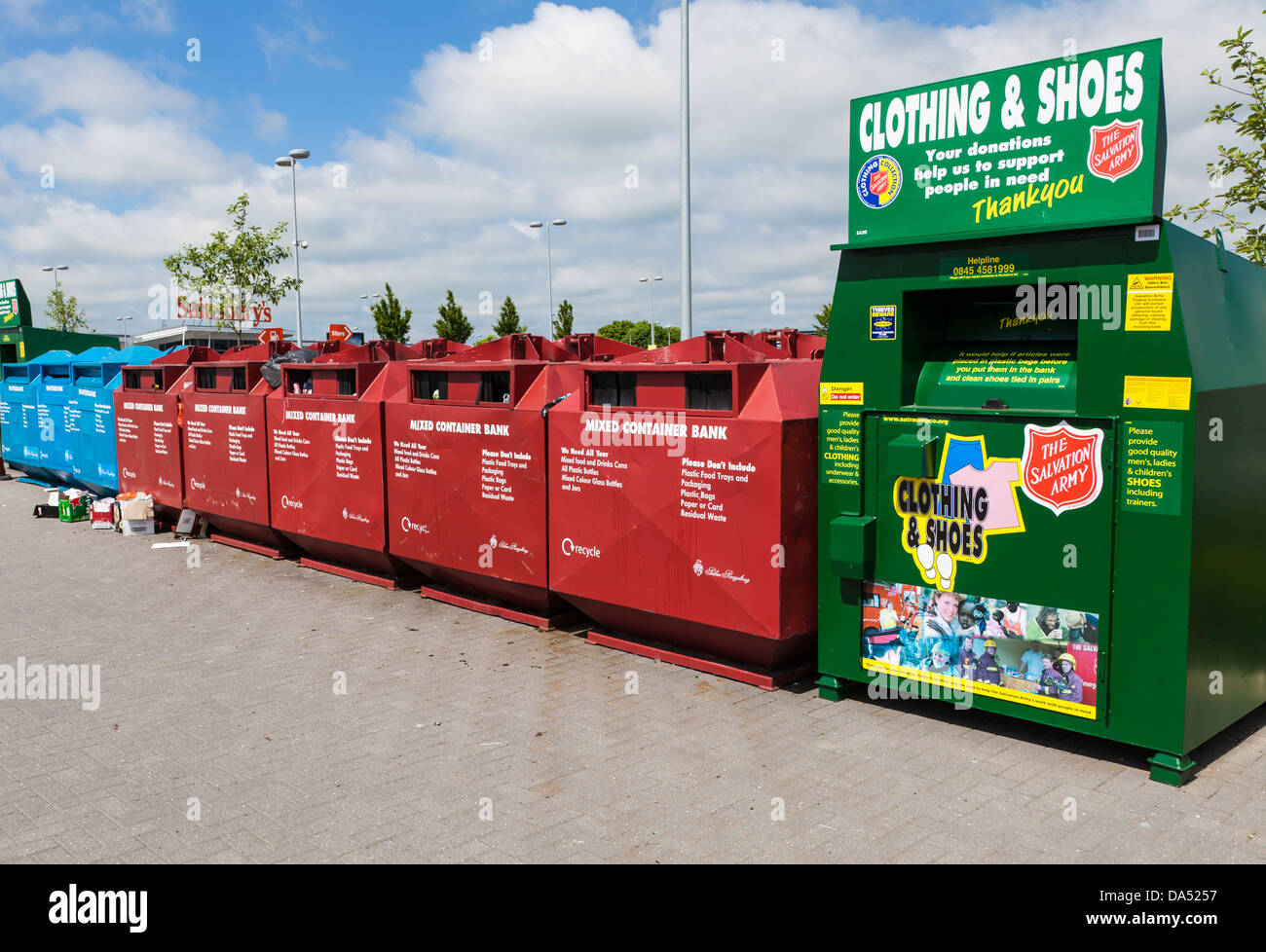 Recycling collection point Stock Photo