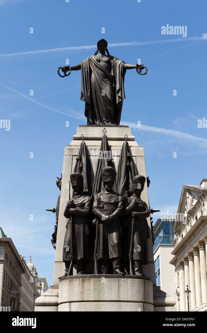 Crimean War Memorial, Waterloo Place, London, England, UK - Stock Image