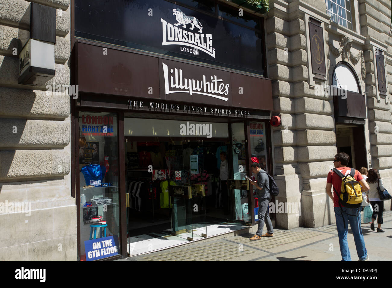 Lillywhites sports shop/department store, Londons West End, London, Engtand, UK - Stock Image