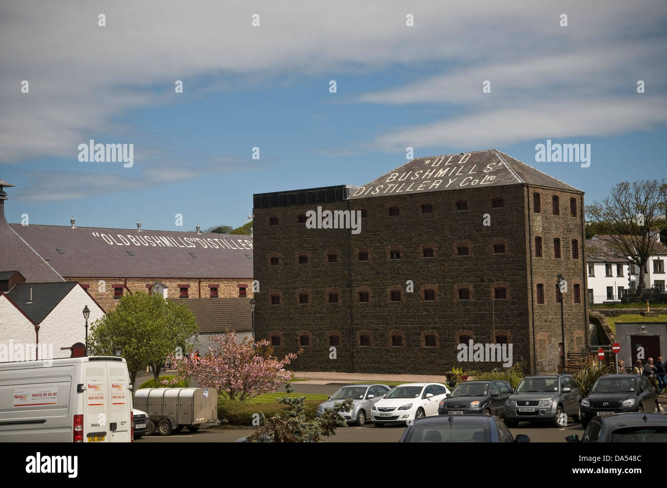 Bushmills Irish Whiskey Distillery in County Antrim, Northern Ireland, UK - Stock Image