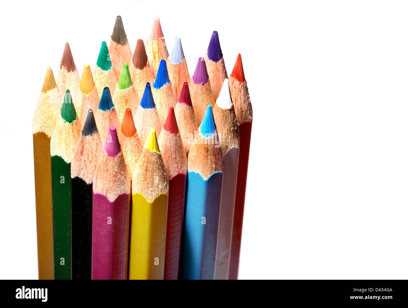 set of colored pencils - Stock Image