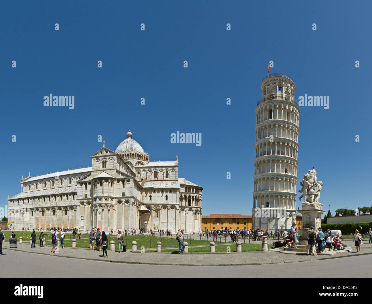 Pisa, Italy, Europe, Tuscany, Toscana, baptistry, skew tower, rook, tower, rook, cathedral, dome, cathedral, tourism, - Stock Image