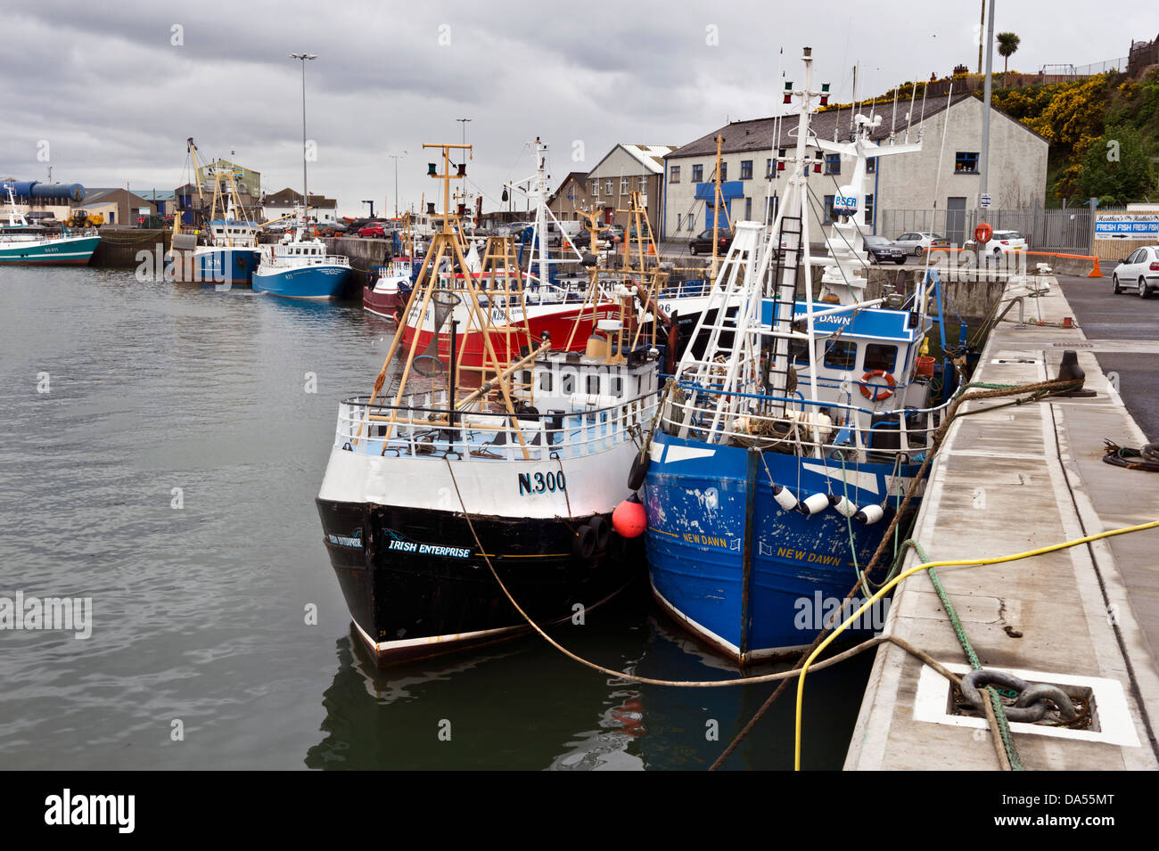 Kilkeel harbour, County Down, Northern Ireland - Stock Image