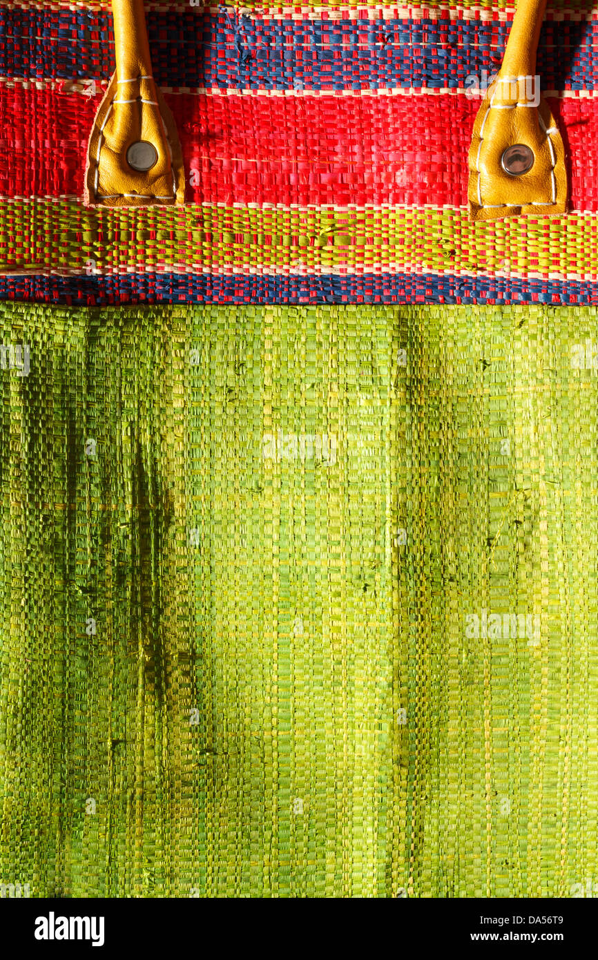 Detail of colorful textile. - Stock Image