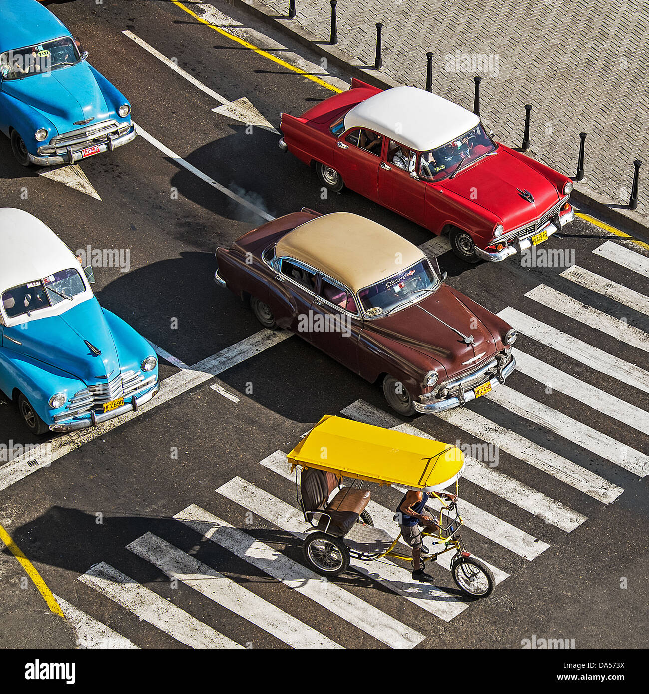 Automobiles at Traffic Signals - Stock Image
