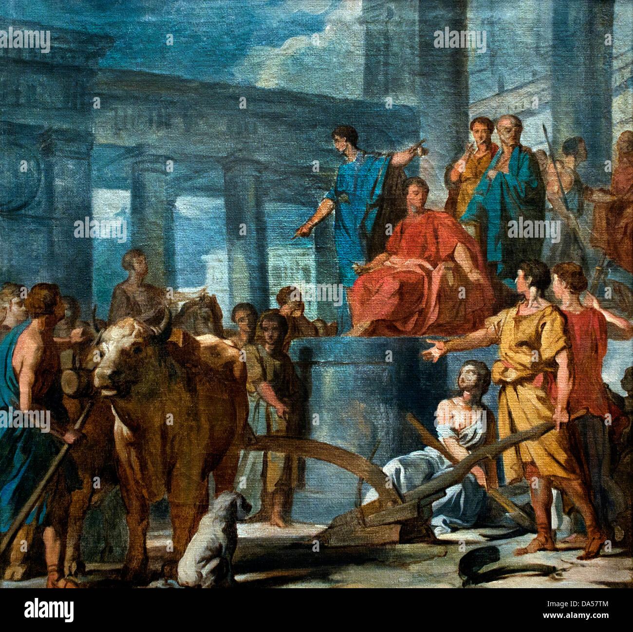 Caius Furious Cressinus accusé de sortilège 1775 Nicolas Guy Brenet 1728-1792 France French - Stock Image