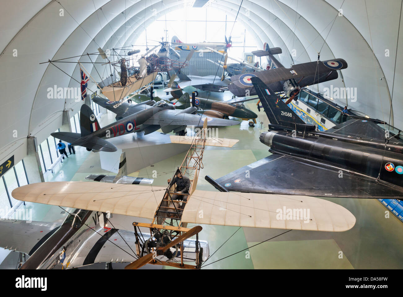 England, London, Hendon, The Royal Airforce Museum, Display of Vintage Aircraft - Stock Image