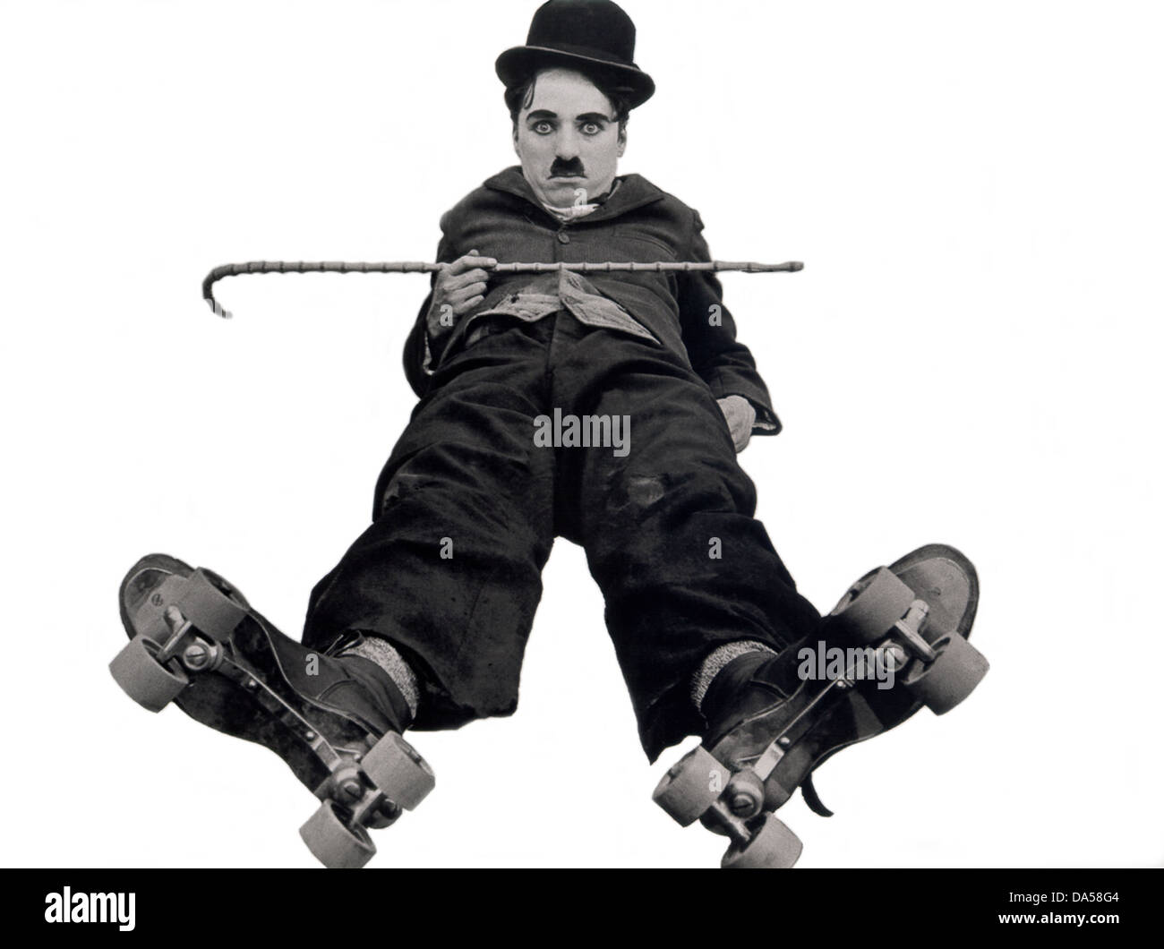 THE RINK 1916 Mutual silent film with Charlie Chaplin - Stock Image
