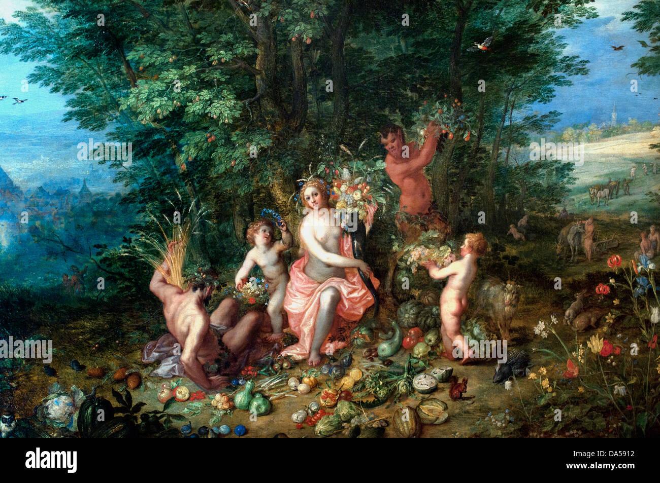 Earth 1610 Jan Brueghel the Elder  (1568-1625) Flemish Belgian Belgium - Stock Image