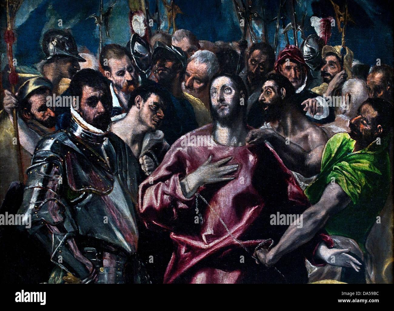 Sharing Christ's robe 1581  EL GRECO Domenikos Theotokopoulos 1541 1614 Spain  Spanish - Stock Image