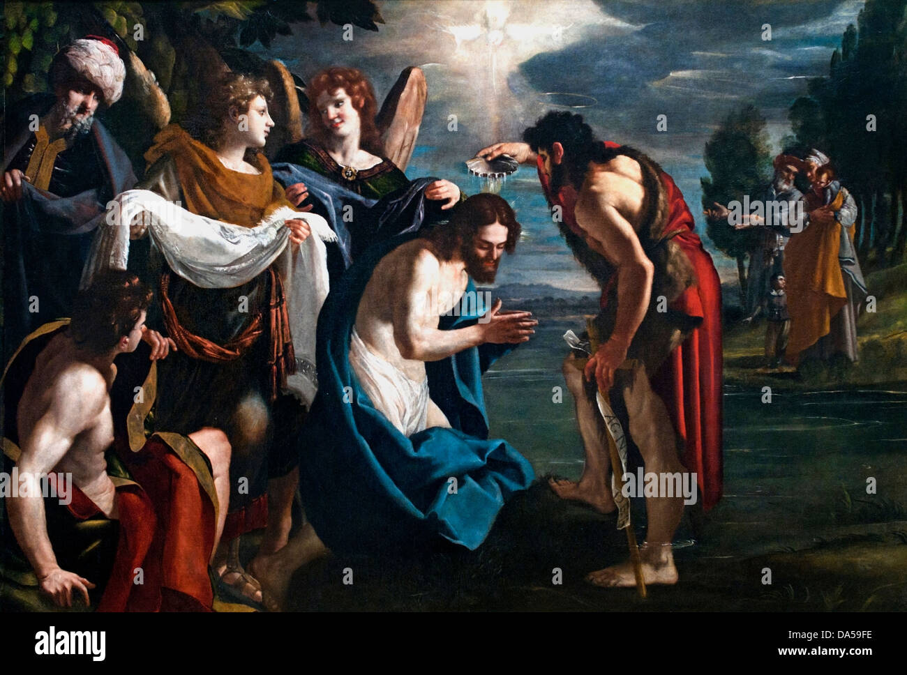 The Baptism of Christ by Emilio Savonanzi 1580-1660 Italy Italian - Stock Image