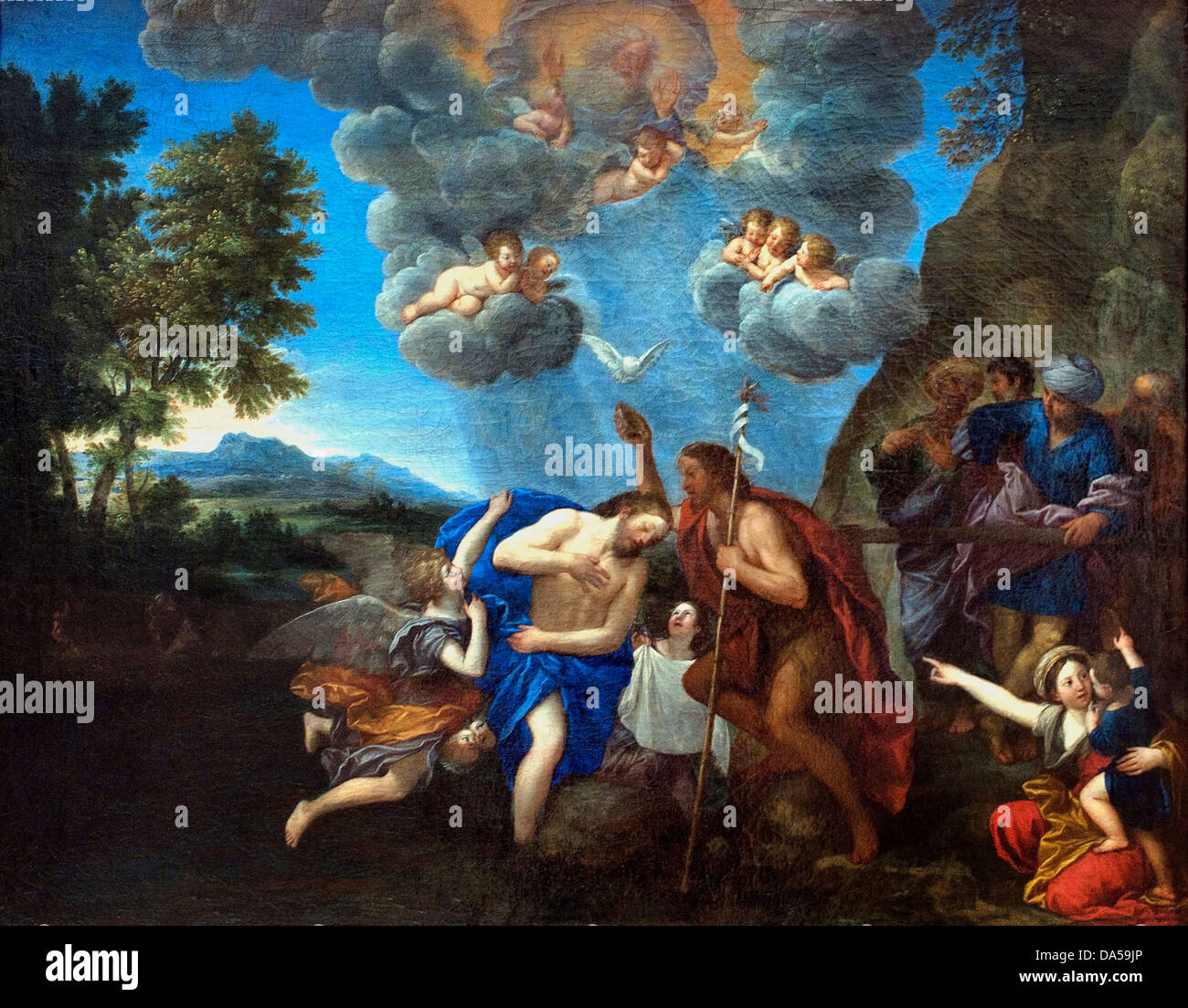 The Baptism of Christ 1630 Francesco Albani 1578-1660 Italy Italian - Stock Image