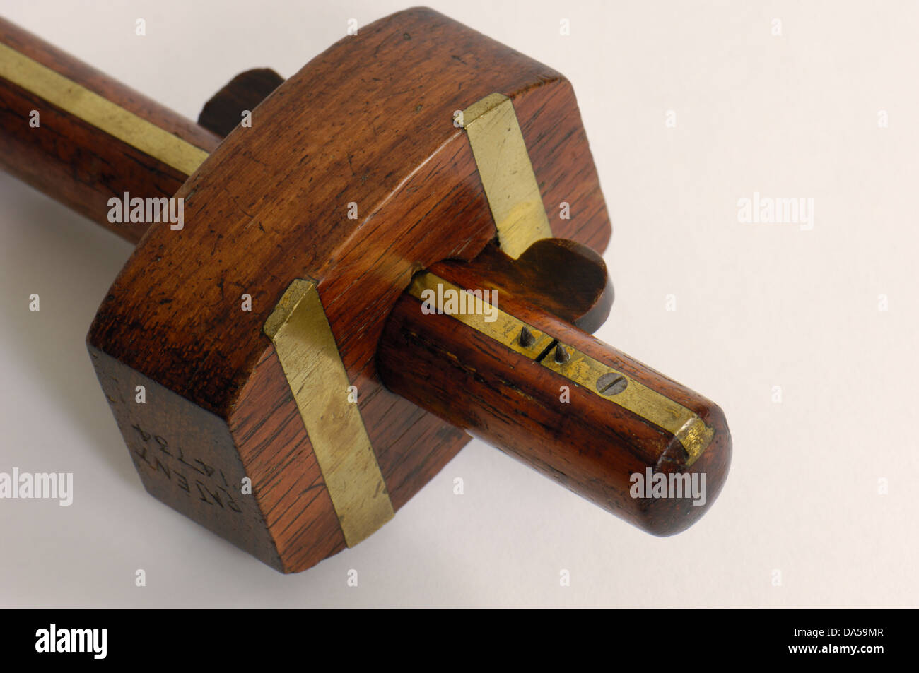 Old English Mortice Or Mortise Gauge For Cabinet Makers And Carpenters    Stock Image