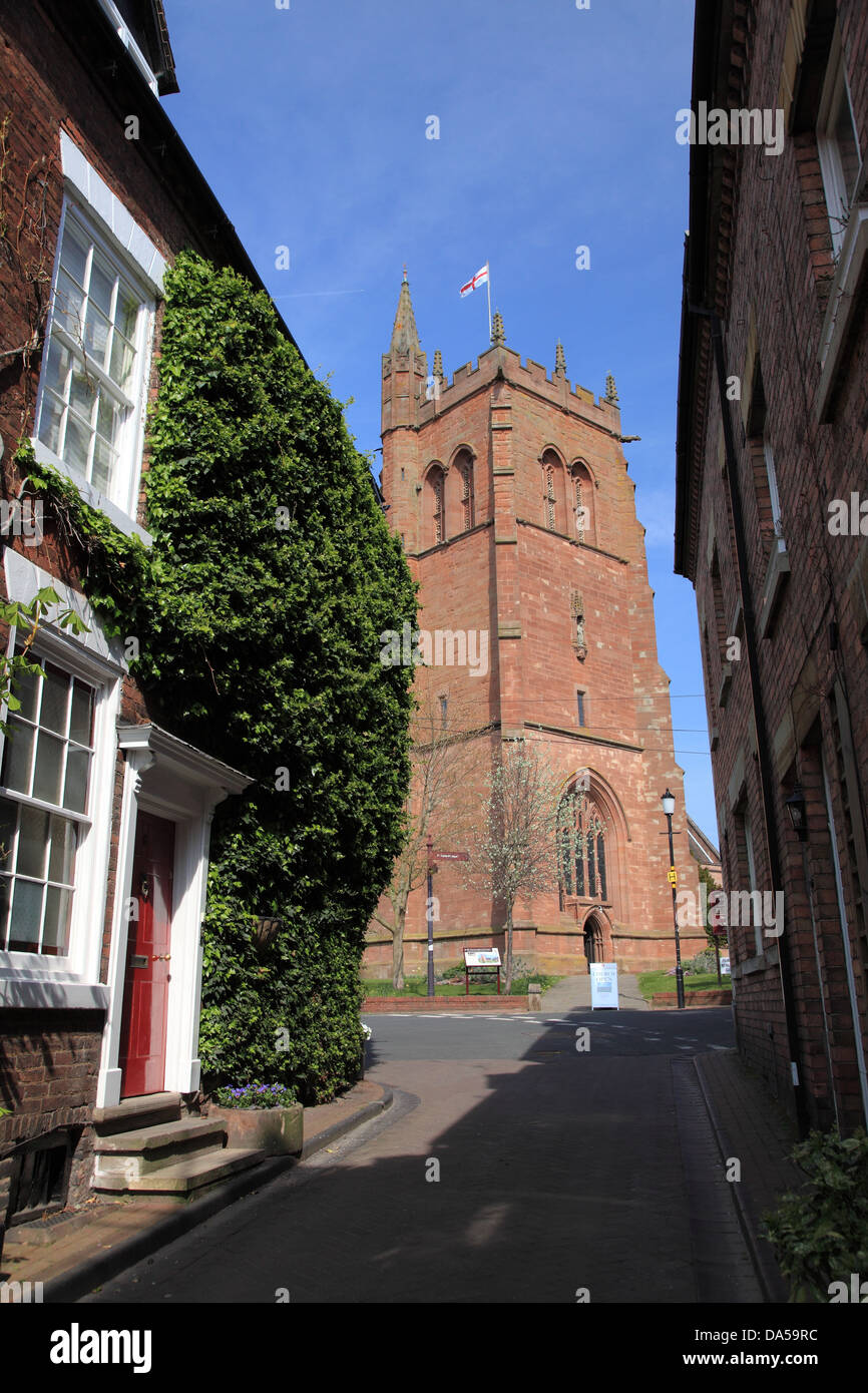 St Leonard's Church in Bridgnorth, Shropshire, a redundant Church of England church - Stock Image