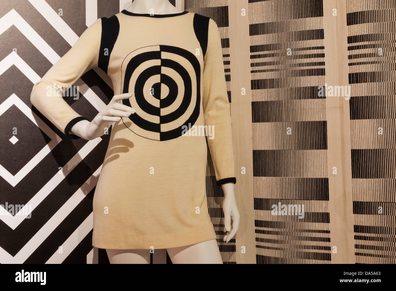 England, London, Southwark, The Fashion and Textile Museum, Exhibit of Dress by Michael Mott for Paraphernalia circa - Stock Image