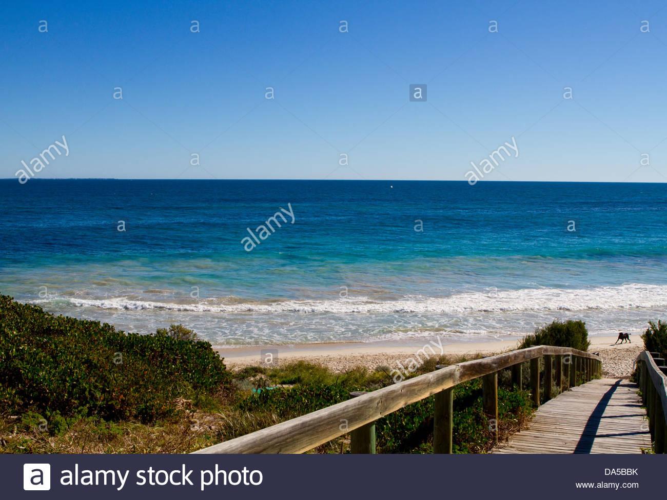 beach view - Stock Image