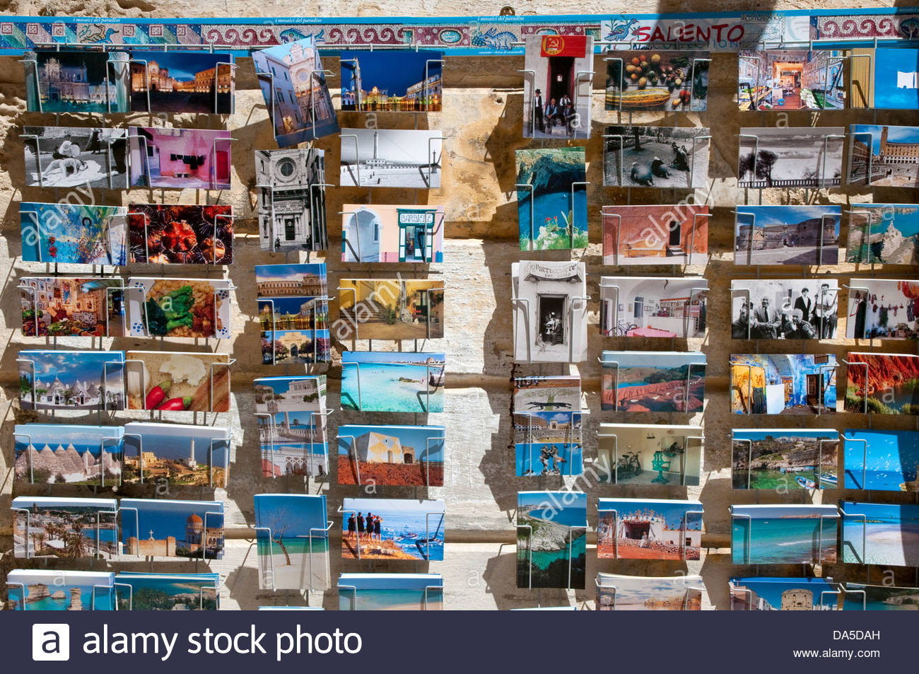 postcards,lecce,puglia,italy - Stock Image