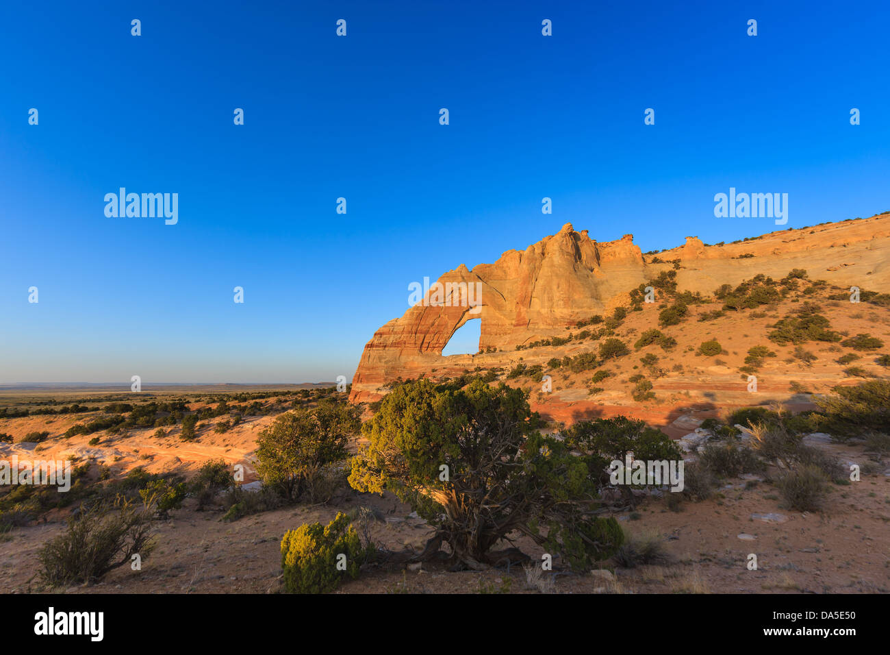 White Mesa Arch, in the north eastern part of Arizona, USA - Stock Image
