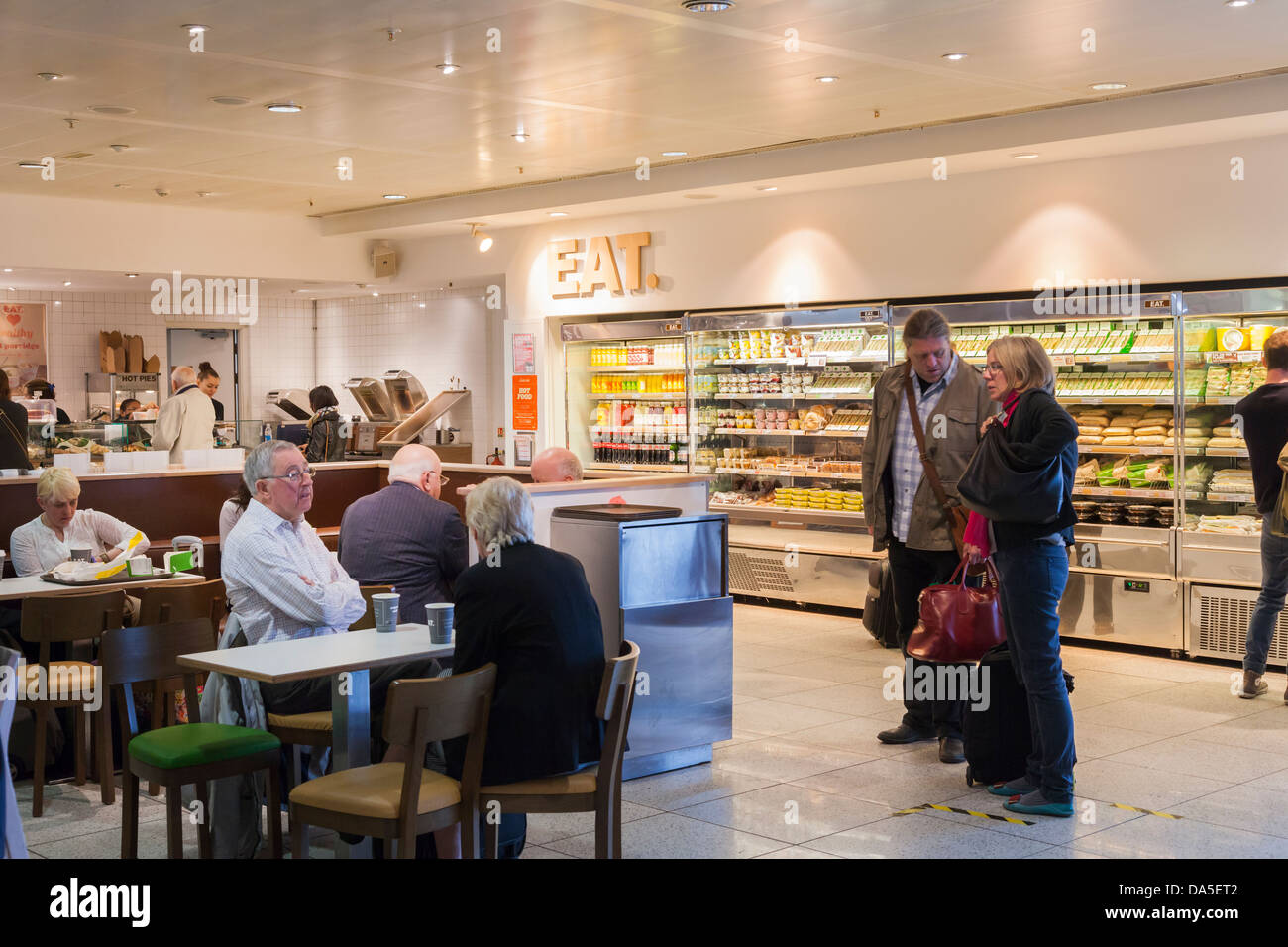 Fast food restaurants in the departure lounge ar Gatwick Airport Stock Photo