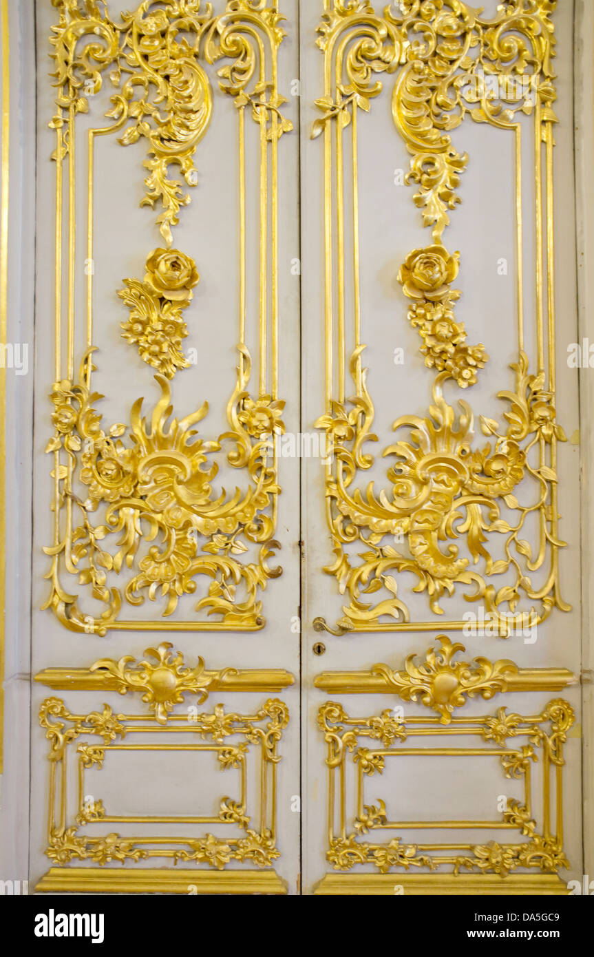 Decorative gold embossed doors in the State Hermitage in St Petersburg.  sc 1 st  Alamy & Decorative gold embossed doors in the State Hermitage in St Stock ...