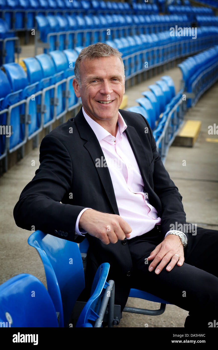 Alec Stewart pictured at Headingley Cricket Ground, Leeds - Stock Image