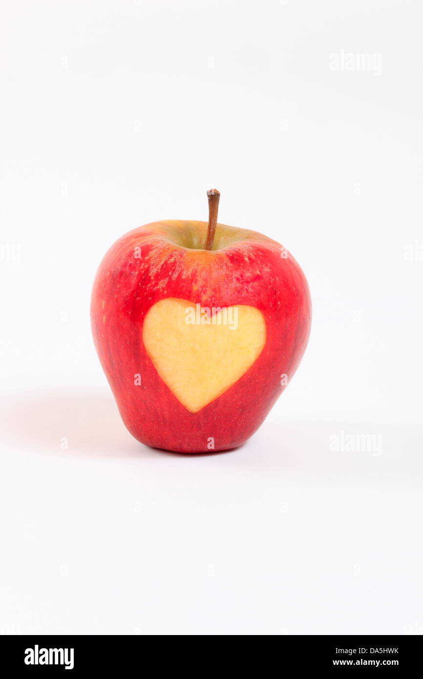 1, agrarian, apple, detail, fruit, health, heart, background, pomes, love, close-up, fruit, quality, Switzerland, - Stock Image