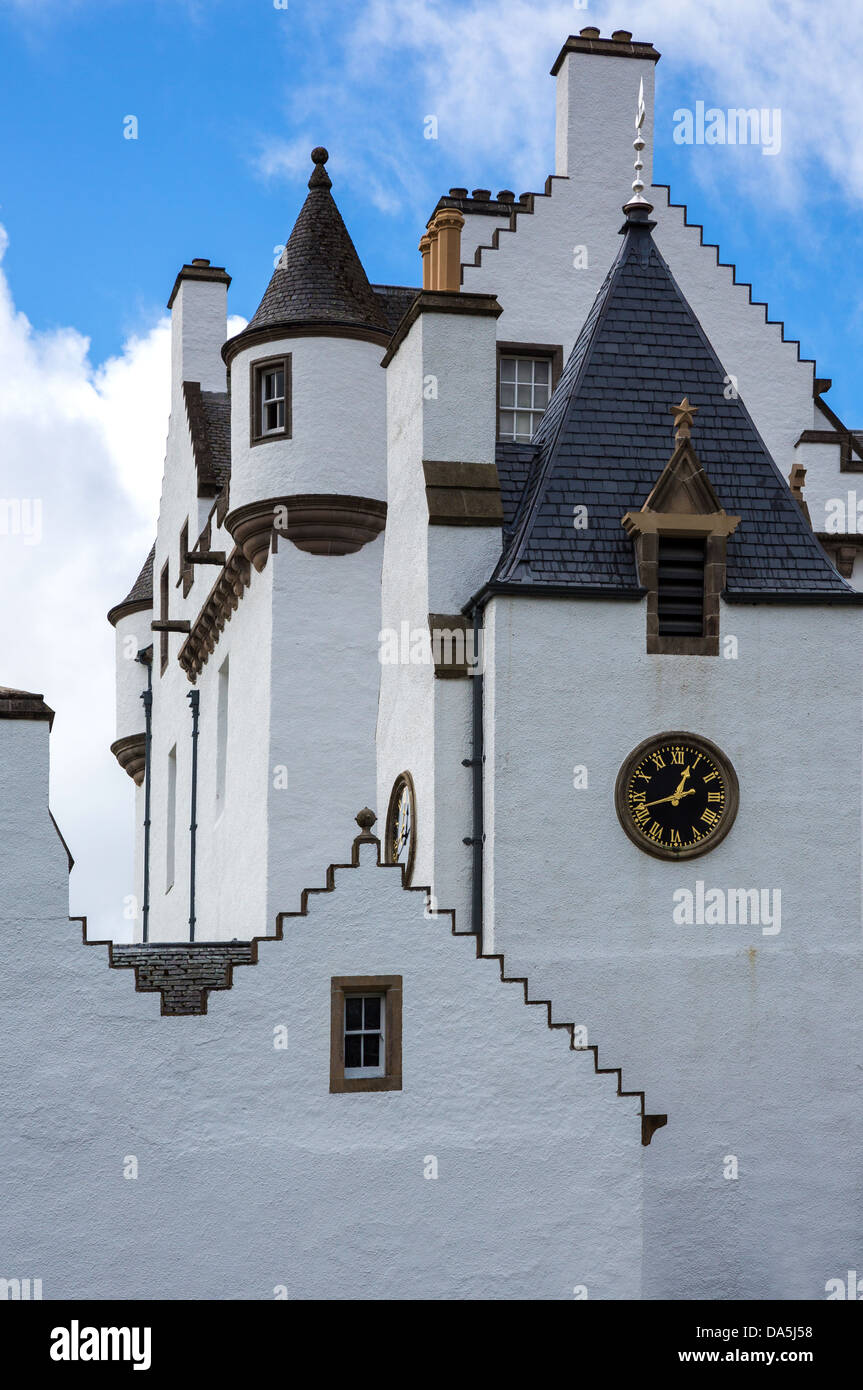 Europe Great Britain, Scotland, Perthshire, Blair Atholl, the Blair castle, home of the Duke of Athool. - Stock Image