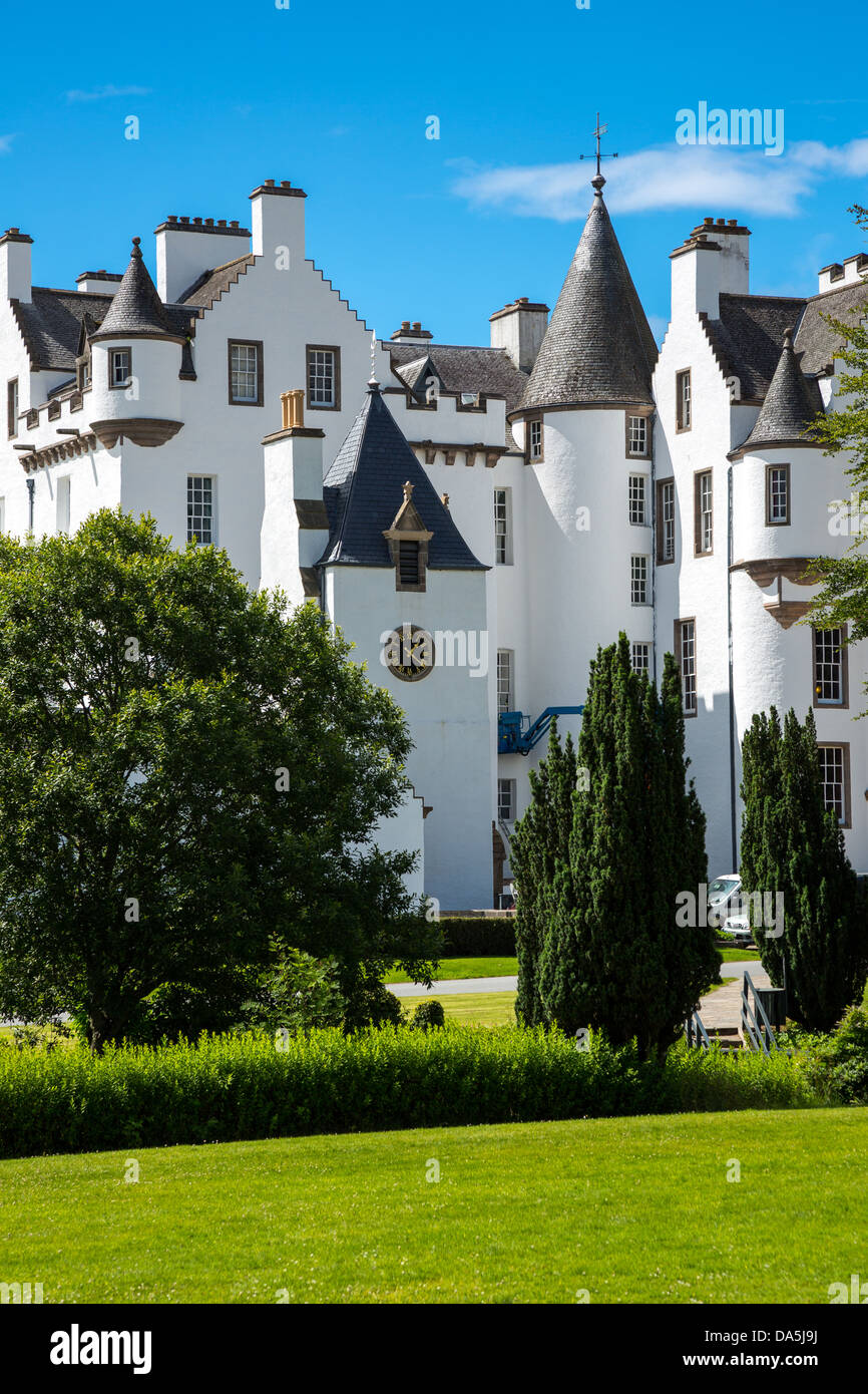 Europe Great Britain, Scotland, Perthshire, Blair Atholl, the Blair castle. - Stock Image