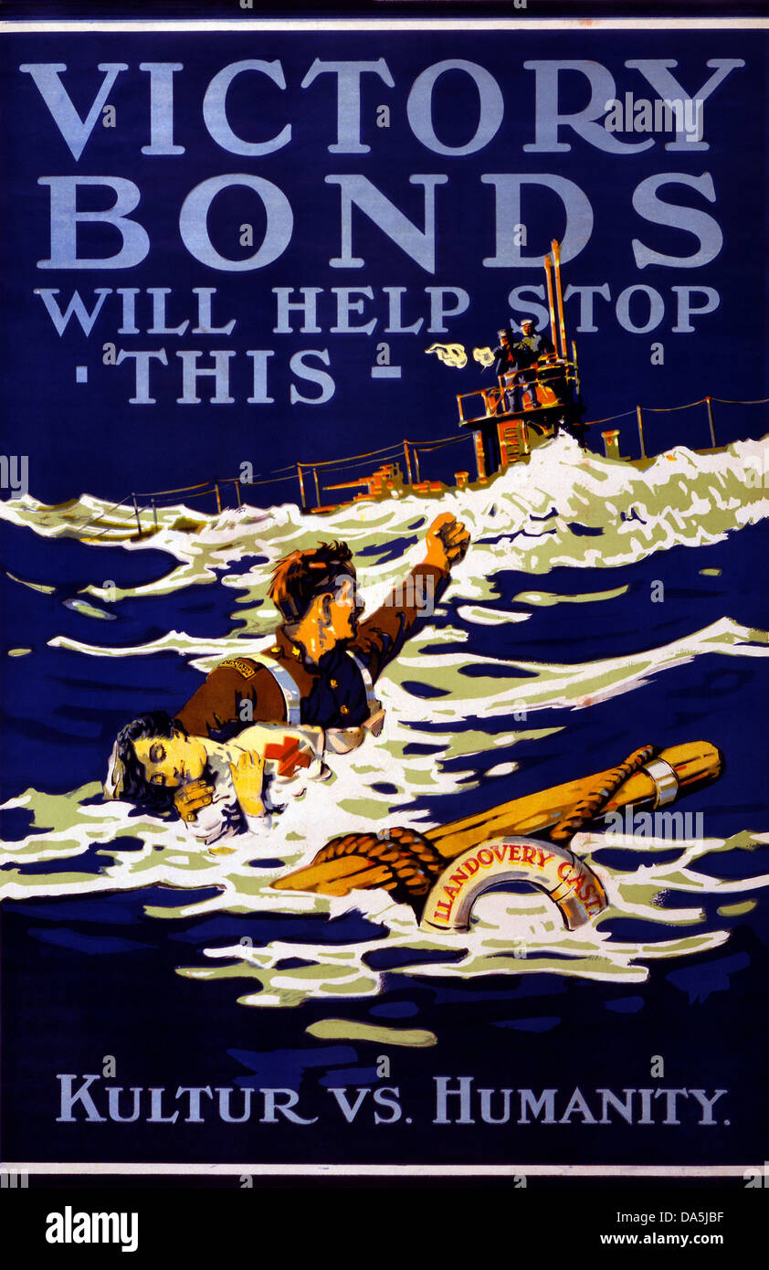 First World War, WWI, World War I, world war, war, Europe, propaganda, poster, Canada, Canadian, propaganda poster, - Stock Image