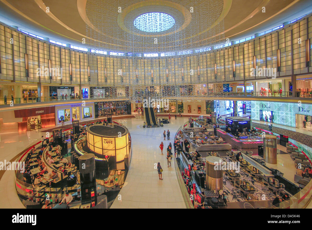 United Arab Emirates, UAE, Dubai, City, Mall, Dubai Mall, architecture, artistic, entrance, hall, huge, modern, - Stock Image