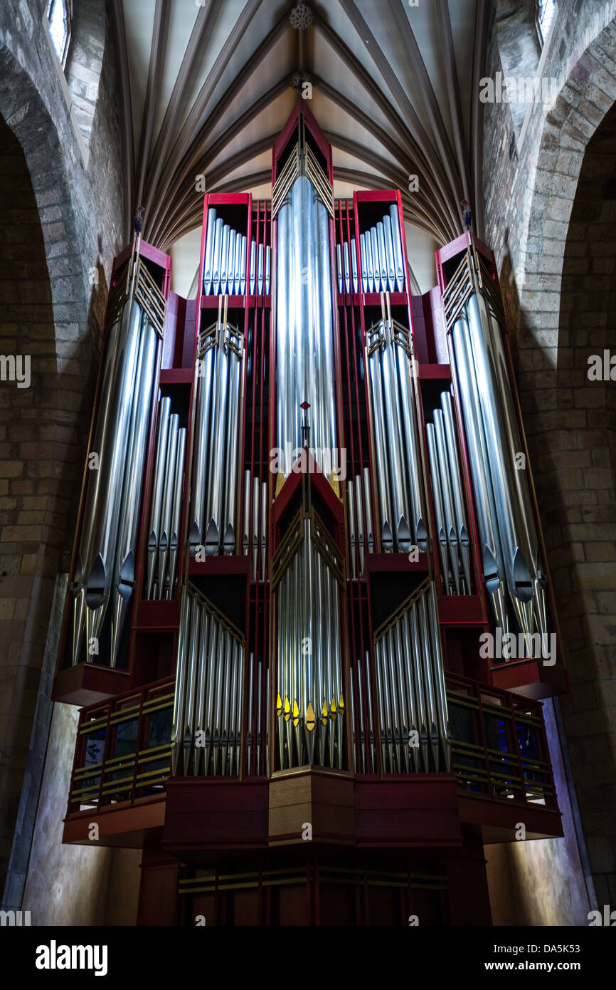 Europe Great Britain, Scotland, Edinburgh, the organ of the St. Giles cathedral. - Stock Image