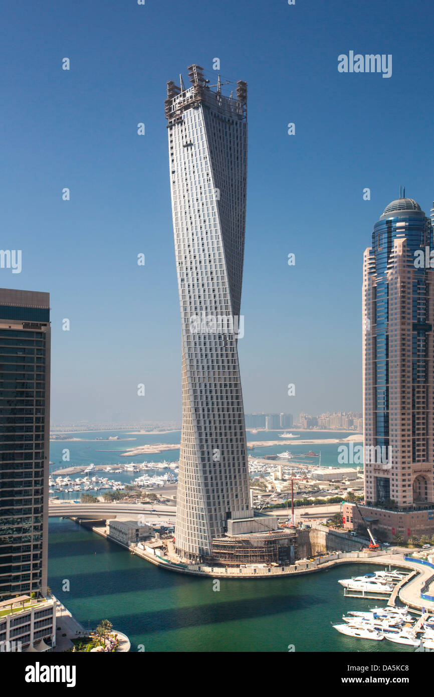 united arab emirates uae dubai city dubai marina infinity stock