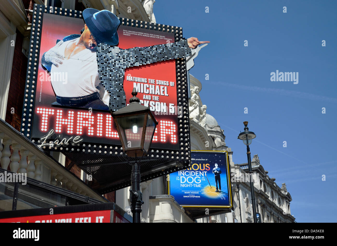 London, England, UK. Theatres in the West End. Lyric Theatre / Apollo Theatre in Shaftesbury Avenue - Stock Image