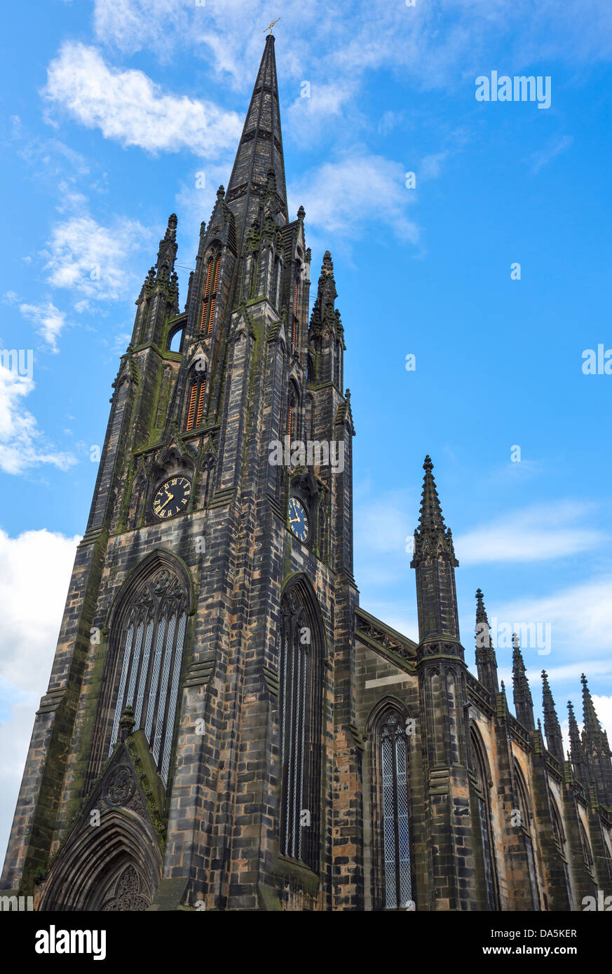 Europe Great Britain, Scotland, Edinburgh, Royal Mile, the Hub also known as Assembly hall. - Stock Image